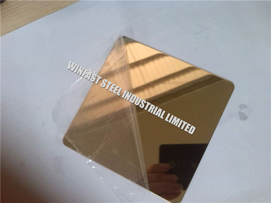 China Decorative Stainless Steel Sheet 316 304 201 PVD Coated Color Mirror factory