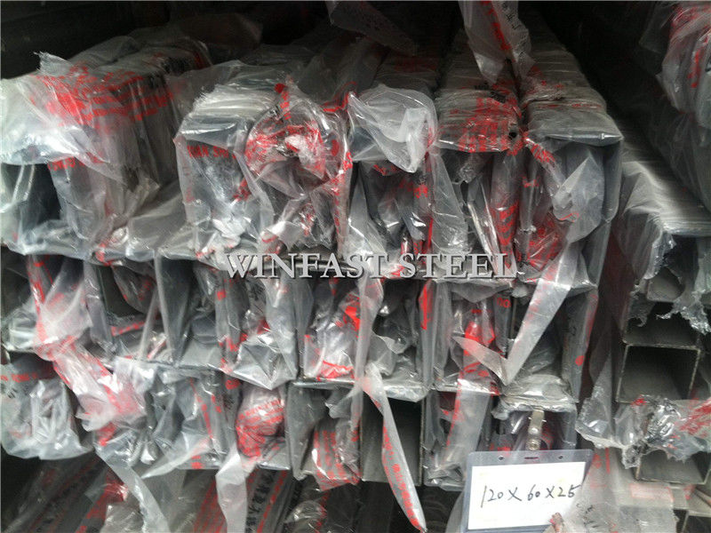 180# 360# 400# 600# Welded Stainless Steel Tubes / Square Metal Tubing supplier