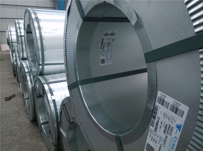 Regular Spangle / Zinc Coating Hot Dip Galvanized Steel Coils Cold Rolled
