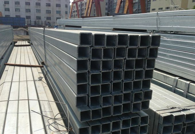ERW Welding Galvanized Steel Square Pipe / Galvanized Steel Tube for Outdoor Structure